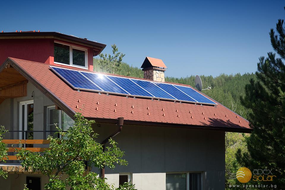 Независим ток от слънцето за електрозахранване на вила